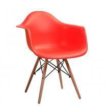 Cadeira Vegas Base Madeira Vermelha - Goede móveis