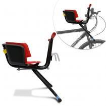 Cadeirinha Infantil para Bicicleta Peixinho Bike Stilo Luxo 15 KG Vermelha Cinto de Segurança -