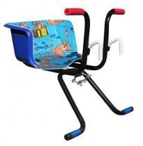 Cadeirinha infantil para bicicleta stilo luxo azul - Util