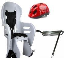 Cadeirinha Kalf Fun Bike com Capacete de Ciclismo Infantil JR Polisport e Bagageiro -