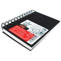 Caderneta espiralada para esboço canson  art book one preto 100g/m² 10,2 x 15,2 cm - 400039210 -
