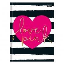 Caderno Brochura Love Pink - Listras Pretas - 96 Folhas - Tilibra -