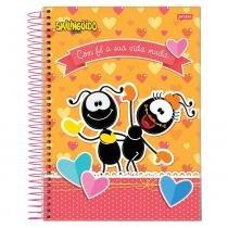 Caderno Smilingüido - Com Fé - 1 matéria - Jandaia -