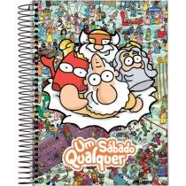 Caderno Um Sábado Qualquer - Deuses - 1x1 96 folhas - Yaay