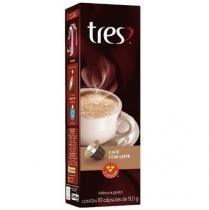 Café Tres 3 Corações CAFÉ COM LEITE Caixa com 10 Cápsulas - 3 coraçoes