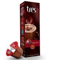 Café Tres 3 Corações CHOCOLATTO Chocolate Caixa 10 Cápsulas - 3 coraçoes