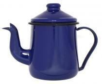 Cafeteira Esmaltada 12 / 1,0 L Tradicional Azul Ewel com 2 - Comprenet