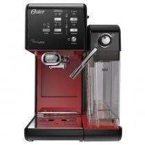 Cafeteira Espresso PrimaLatte II Preta/Vermelha 127V - Oster -