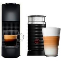 Cafeteira Expresso 19Bar Nespresso - Combo Essenza Mini Red + Aero3 Branco 14 Cápsulas