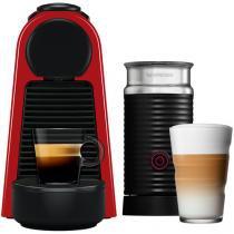 Cafeteira Expresso 19Bar Nespresso - Combo Essenza Mini Red + Aero3 Vermelho 14Cápsulas