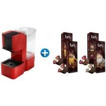 Cafeteira Expresso 2 Bar Três Corações Pop - Vermelho e Preto + 40 Cápsulas
