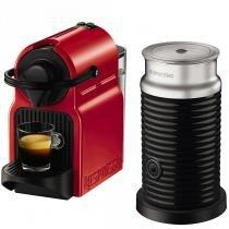 Cafeteira inissia + aeroccino nespresso vermelha automatica  110v - a3rc40-br-re-n - Nespresso