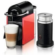 CAFETEIRA PIXIE CLIP + AEROCINNO WHITE AND CORAL 110V AUTOMATICA - A3ND60-BR-WR-NE - Nespresso
