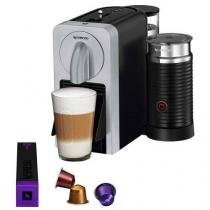 Cafeteira Prodígio  Milk + Aeroccino Nespresso Automática Prata 110v -