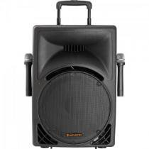 Caixa acustica ativa 150w usb/sd/fm c/2 microfones s/fio e bateria interna infinity 3000 preta hayonik Hayonik