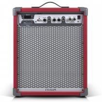 Caixa Amplificada LC450 APP 80W Vermelha 31339 - Frahm - Frahm