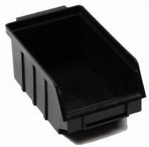 Caixa box 3 para organização preta 10 x 17 x 7 cm com 25 - Cx plastic