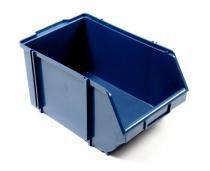 Caixa box 7 para organização azul 22 x 34 x 17 cm com 10 - Cx plastic