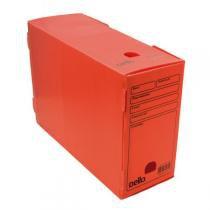 Caixa de arquivo morto oficio polidello dello vermelho 0326 -