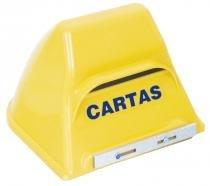 Caixa de correio polipropileno amarela enerlux -