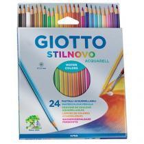 Caixa de lápis de cor 24 Peças Giotto - Stilnovo Acquarell