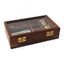 Caixa de Madeira C Dados Cartas Dominos Oldway - Oldway