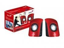 Caixa de Som 2.0 CH Genius 31731006101 SP-U115 1,5 W RMS Vermelha Alimentacao USB/AUDIO P2 -