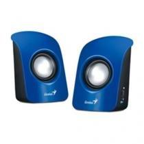 Caixa de som 2.0 genius ch sp-u115 azul usb/audio p2 -31731006102 -