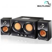 Caixa De Som 2.2 30W RMS USB, SD, FM Bivolt SP118 - Multilaser - Multilaser