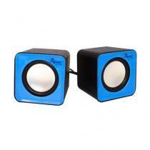 Caixa de som 3w usb 2.0 70db 5v kp-609 azul - Importado