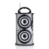 Caixa de som amplificada portátil trc 218b 25w e bluetooth -