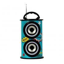 Caixa de som amplificada portátil trc 218c 25w e bluetooth -