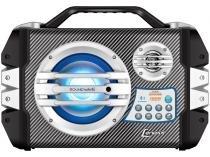 Caixa de Som Amplificadora Lenoxx Áudio CA 305 - 100W Bluetooth Portátil USB com Microfone