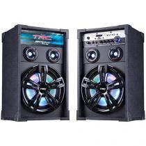 Caixa de Som Amplificadora TRC Caixa Acústica - TRC 339 200W Bluetooth USB com Microfone