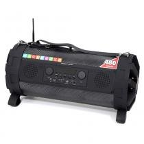 Caixa de som Bluetooth Bazuka XB860 Polyvox Radio FM LED -