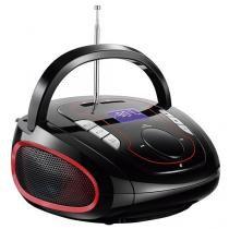 Caixa de Som Bluetooth Portátil Multilaser Boombox - SP186 15W USB MP3 Entrada SD Rádio FM