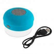 Caixa De Som Bluetooth Smartphone Iphone Prova D Agua Azul - Idea