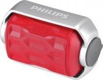 Caixa de som bluetooth wireless portátil 2.8w prova dagua bt2200r/00 vermelha - Philips