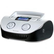 Caixa de Som Boombox 15W RMS USB/P2/FM/Cartao de Memória - Braca/Preta - SP183 - Neutro - Multilaser
