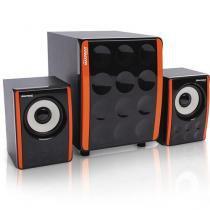 Caixa de Som com Subwoofer Maxprint 15W Laranja e Preto - 606085 - Maxprint