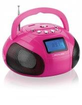 Caixa De Som Mini Boom Box 10w Multilaser - Rosa - Sp146 -