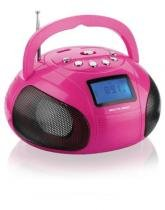 Caixa De Som Mini Boom Box 10w Rosa Multilaser - SP146 -
