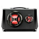 Caixa de Som Multilaser Active Sound SP217 Preto, Rádio FM, USB, Potência de 80W RMS -