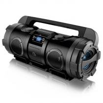 Caixa de Som Multilaser Boombox Bazooka USB, SD e FM Tela LCD - 80 Watts RMS - SP163 -