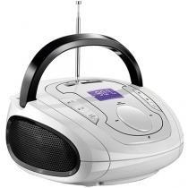 Caixa de som Multilaser Boombox Bluetooth 5 em 1 Branco e Preta - SP185 - Neutro - Multilaser