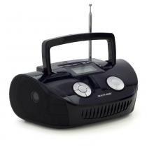 Caixa de Som Multilaser Boombox Multifuncional 15 Watts RMS USB, P2, FM e SD Preta - SP182 -
