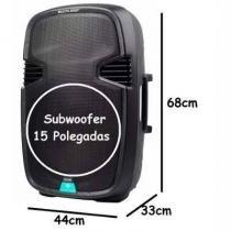 """Caixa de som multiuso amplificada USB/sd/fm/bt com microfone 15 """"""""300w rms com bateria interna sp22 - Multilaser"""