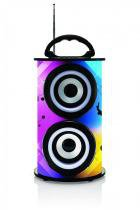 Caixa de Som Portátil TRC 218A Bluetooth 25W Com Iluminação -