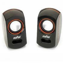 Caixa de som portatil usb s/ pilhas fasom-10 laranja - Feasso