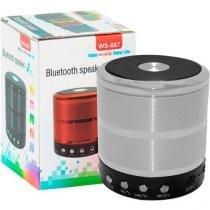 Caixa de som portatil ws-887 speaker bluetooth -
